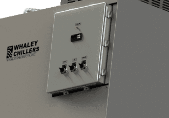 Air cooled chiller control panel