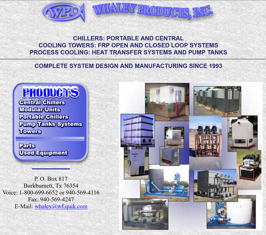 Whaley Products, Inc. First Website
