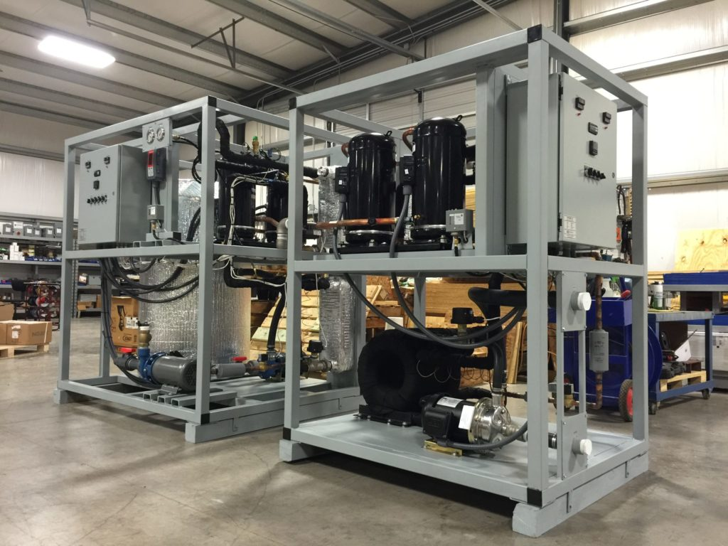 water-cooled process chiller