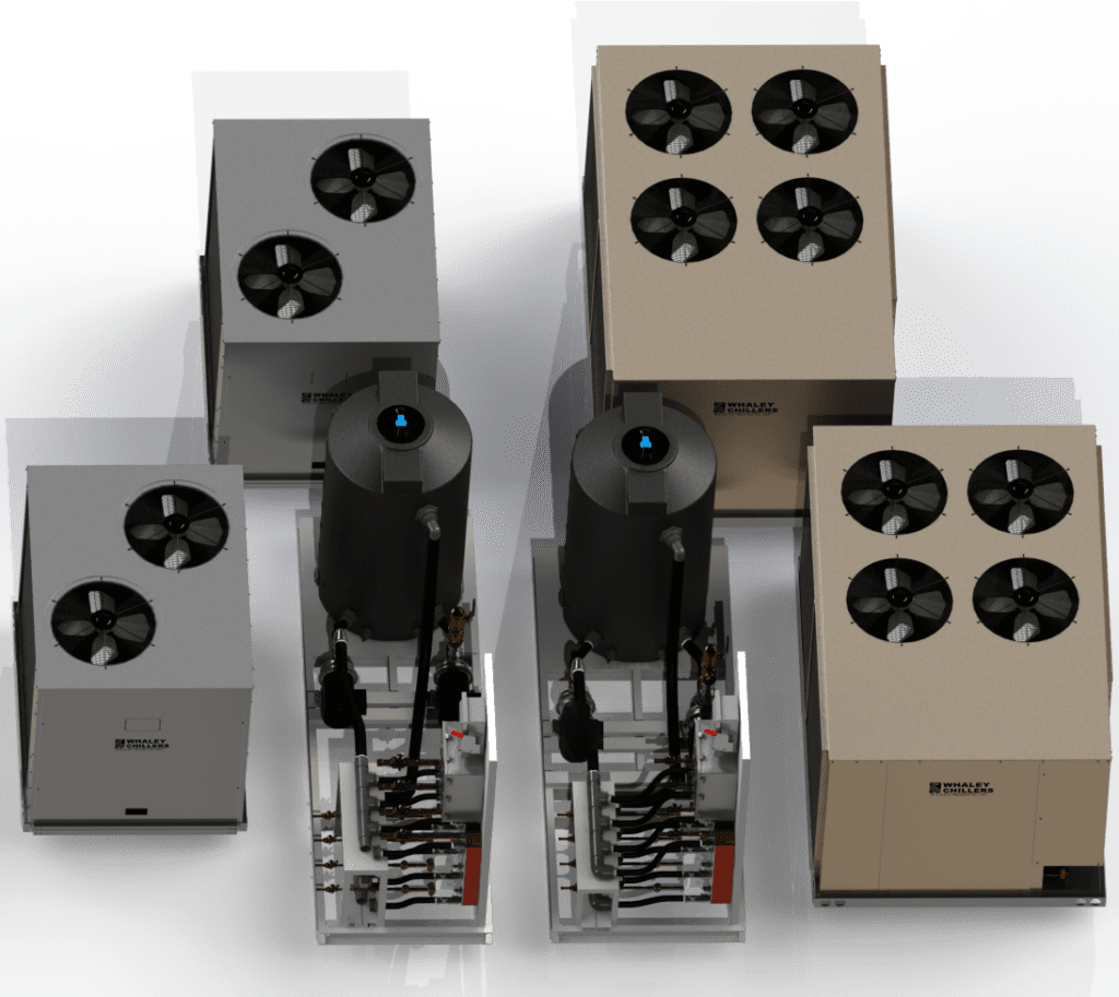 Multiple Condensing Units with Heat Transfer Pump Tank Skid 80 Ton