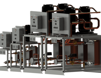 Modular water-cooled chillers