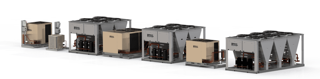 100 ton modular air-cooled chillers